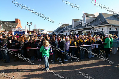Some of the 10,000 people who participated in the American Cancer Society's Making Strides Against Breast Cancer 5K walk at Woodbury Common Premium Outlets on Sunday, October 19, 2008.