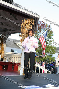 Channel 7 Eyewitness News anchor Sade Baderinwa broadcasts live from the American Cancer Society's Making Strides Against Breast Cancer 5K walk at Woodbury Common Premium Outlets on Sunday, October 19, 2008.