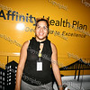 Analie Fabian at the Affinity Health Plan booth during Newburgh's National Night Out.