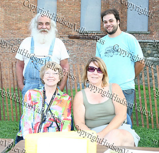 Downing Park Planning Committe members Animal Hughes, Dr. Karen Eberle-McCarthy, Kathy Parisi and Chris Tripoli at their table during Newburgh's National Night Out.