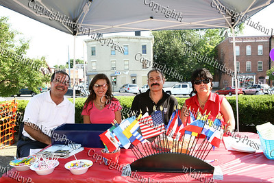 Members of Latinos Unidos of the Hudson Valley - Angel Figueroa, Carolyn Saldana, Peter Gonzalez and Joanne Lugo.