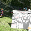"The YWCA has a display composed of newspaper headlines of victims of violence at the ""Speak Out"" stopping sexual violence in our community event in Downing Park on August 23, 2008."