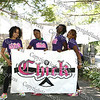 "The Hip-Hop dance group CHICK - Yvette Disla, Sonya Pierre, Ralyn Brewer and Yakira Lovera - at the ""Speak Out"" stopping sexual violence in our community in Downing Park on August 23, 2008."