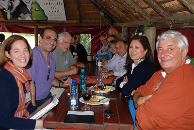 Group Lunch Soweto - Lou Tucciarone and Lucy Rosario
