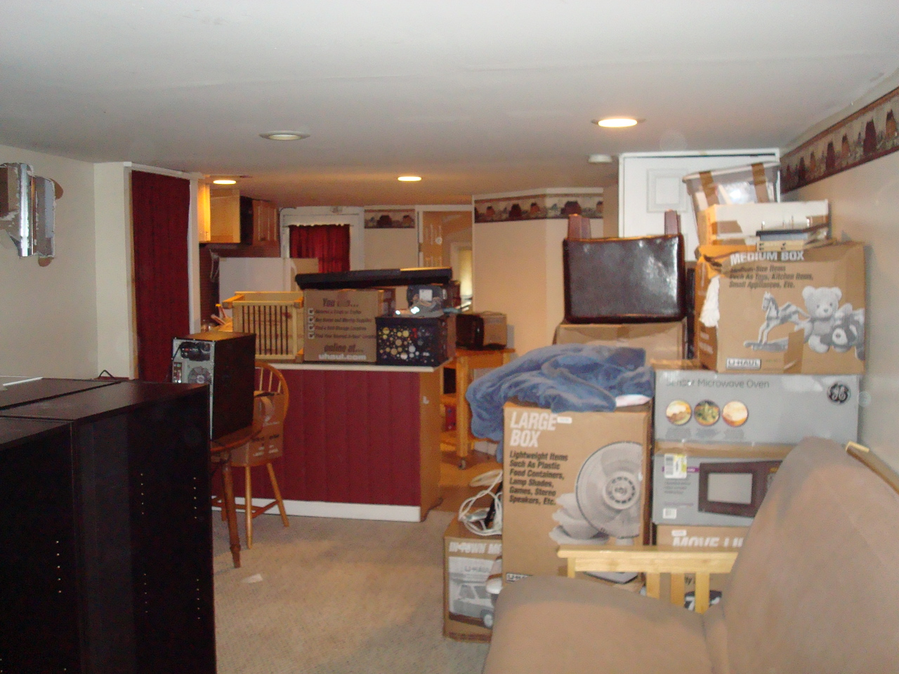 My new apartment after the movers came