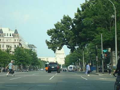 While driving the streets of DC trying (and failing) to find something, the capital was ahead of me. Kinda cool.