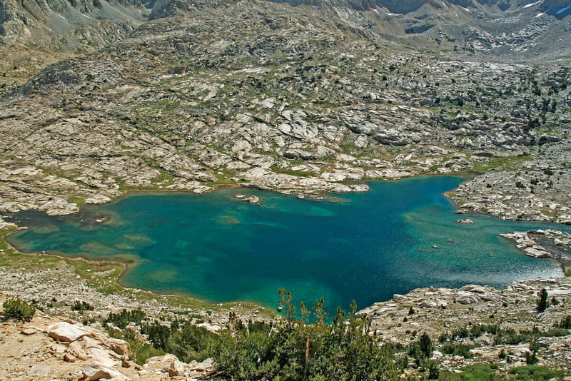 Sapphire Lake from the Pass to McGee Canyon.