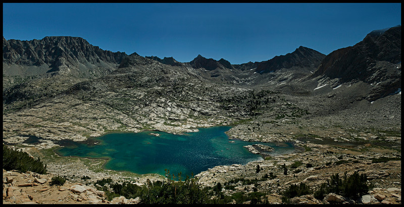 Sapphire Lake and points East from McGee Pass