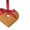 Ginger bread heart and red bow