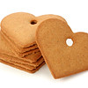 Ginger bread hearts isolated on white background