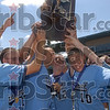 No. 1 in 1A: Members of the Shakamak baseball team celebrate with their fans and family in the stands after the team was handed the Class A baseball state champion trophy Saturday, June 14 on Victory Field in Indianapolis.