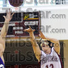 Who was that masked man: Rose-Hulman's #12, Blake Knotts launches a shot against a Bluffton defender Saturday afternoon.