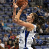 Southpaw: Indiana State's #31, Kelsie Cooley puts up a left-handed shot against Arkansas State Tuesday night at Hulman Center.
