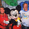 Opposites attract: Judy and Jim McDowell pose with Mickey in 2005. Judy sports a Mickey t-shirt while Jim, a big Donald Duck fan shows his loyalty.