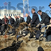 Groundbreaking: Dignitaries throw dirt during the groundbreaking for the new Federal Courthouse Friday, Nov. 21 at 921 Ohio Street.