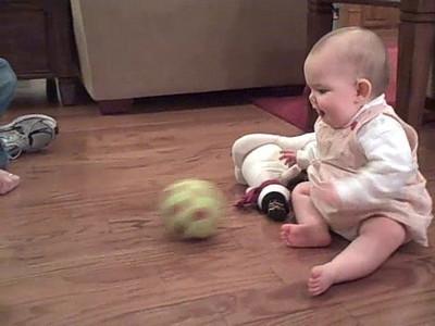 December 13, 2008 - Anna plays ball