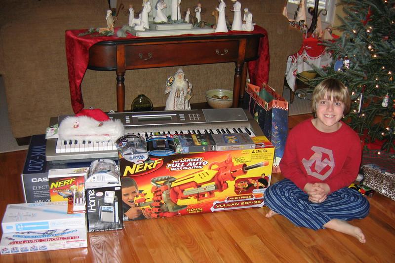 Anthony's Christmas morning haul