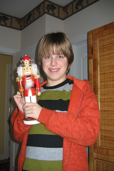 Jacob and his favorite nutcracker