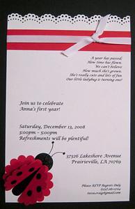 Anna's Ladybug Invitation