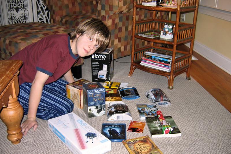 Jacob's Christmas morning haul