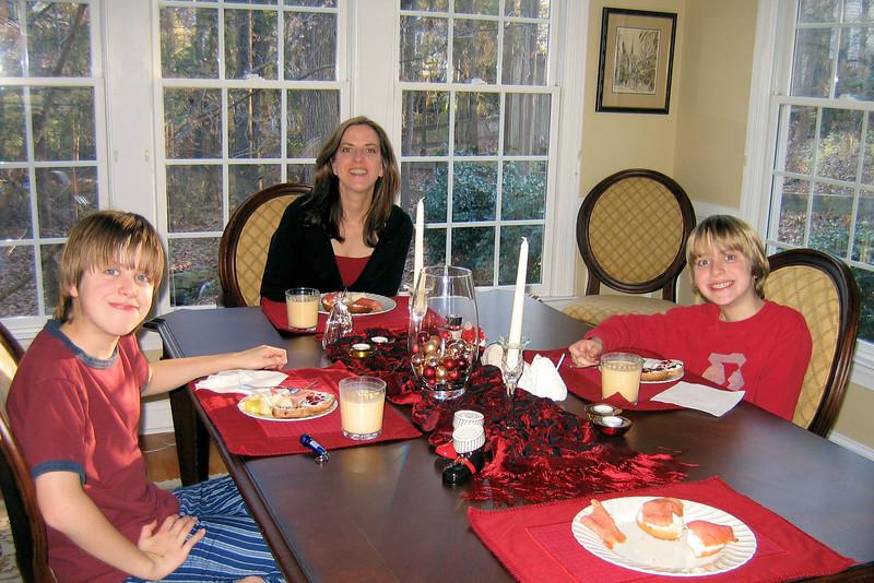 Christmas morning brunch