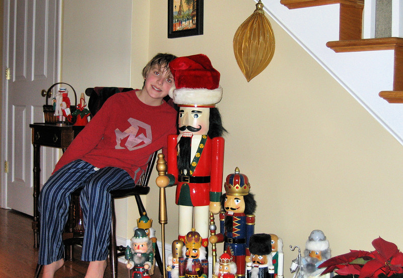 Anthony and the nutcracker (that used to be taller than Anthony)