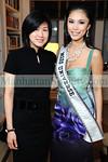 """Joyce Lee- Public Relations  <a href=""""http://www.missuniverse.com"""">http://www.missuniverse.com</a> , Riyo Mori Miss Universe 2007"""
