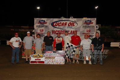 Matt Miller and crew in Victory Lane