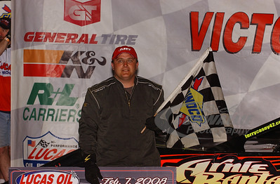 Terry Casey in Victory Lane