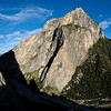 Standing atop the taller of two spires, I snapped 45 images to stitch into this large panorama of El Potrero Chico.  At full size, climbers are visible on the walls across the canyon.