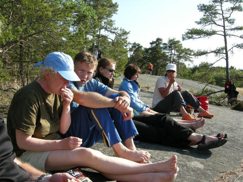 Snacks och snack efter dagens paddling