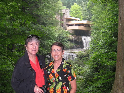 Fallingwater with Doris and Lois