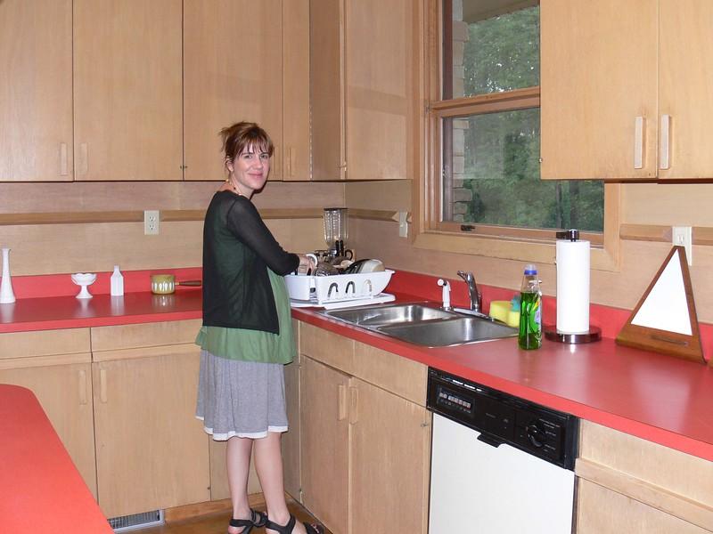 Duncan house kitchen with Liz