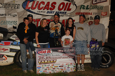Brian Birkhofer and crew in Victory Lane
