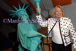 """NEW YORK-SEPTEMBER 18: Lady Liberty, Liz Smith at  the Fifth Annual """"Fete de Swifty"""" to benefit The Family Justice Center Initiative of The Mayor's Fund to Advance New York City on East 73rd Street, Upper East Side of Manhattan, New York City on Thursday, September 18, 2008 (Photo Credit: Christopher London/ManhattanSociety.com)"""