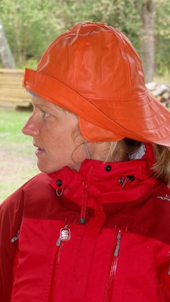 Anja skymtade några regnstänk