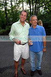 David McEneaney, Mike Lupica        Friday August 15, 2008 First Pitch Cocktail Party to Celebrate Artists & Writers 60th Anniversary Softball Game