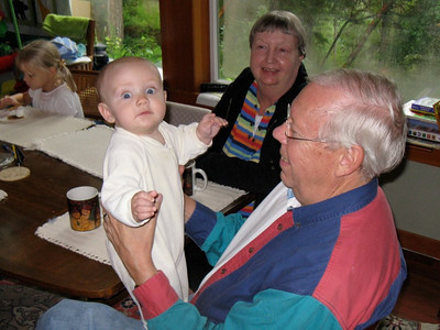 Baby John with grandparents