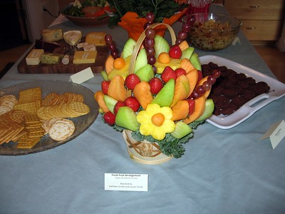 Fresh Fruit Arrangement, donated by Kathleen Smith and Lauren Smith