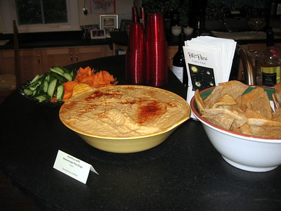 Hummus with Homemade Pita Chips, donated by Fireflies