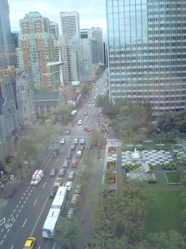 The view from our hotel room in Vancouver