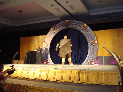 An Unas. Every Stargate convention needs and Unas.