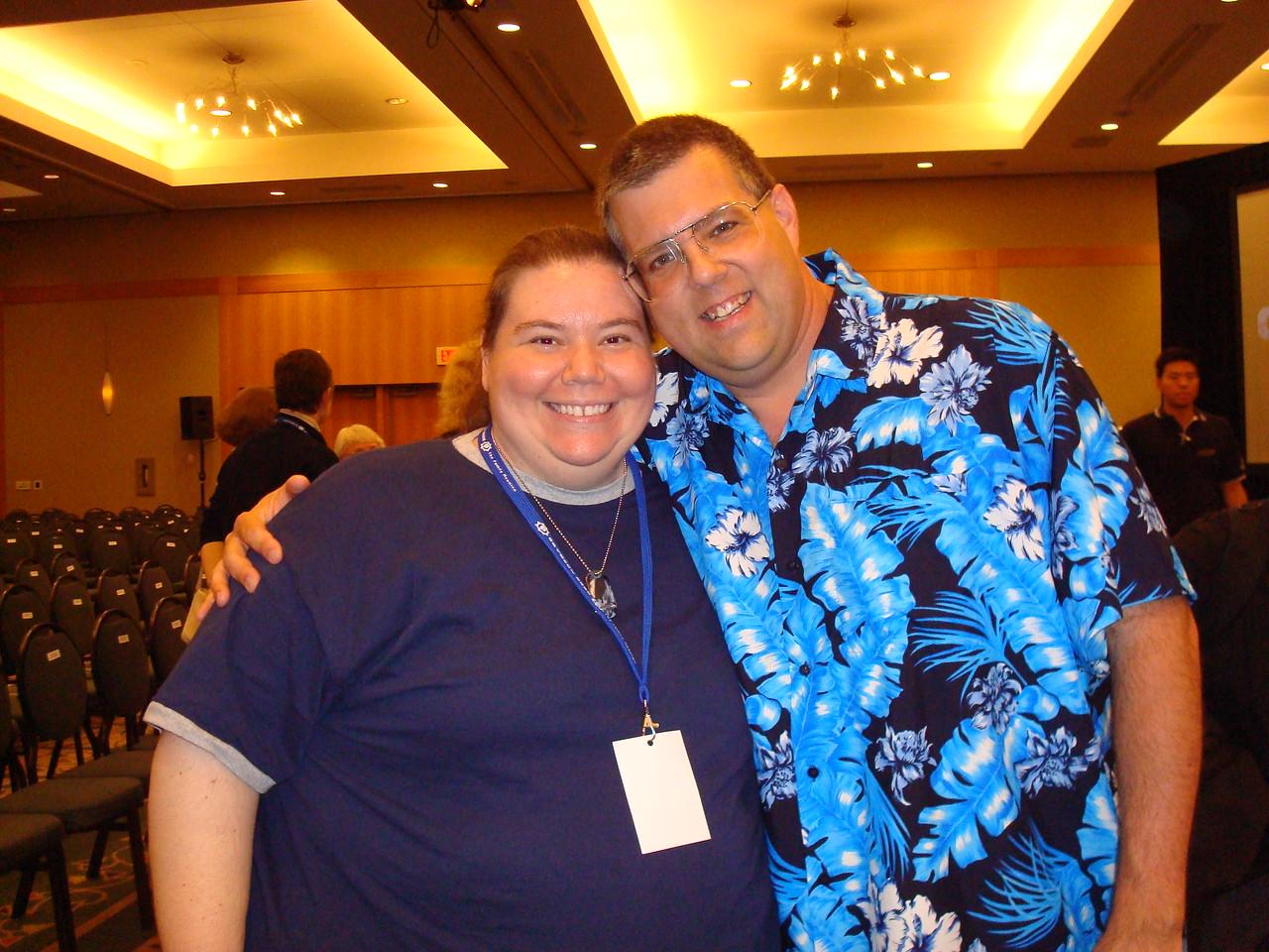 Me and Bruce Woloshyn (visual effects guru)