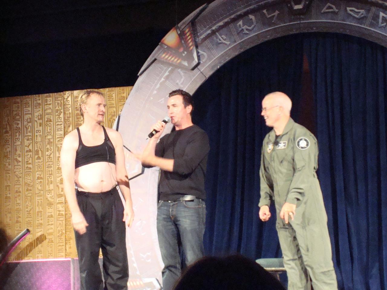 Starhole (play/improv thing). Dean Haglund, Paul McGillion, Gary Jones.