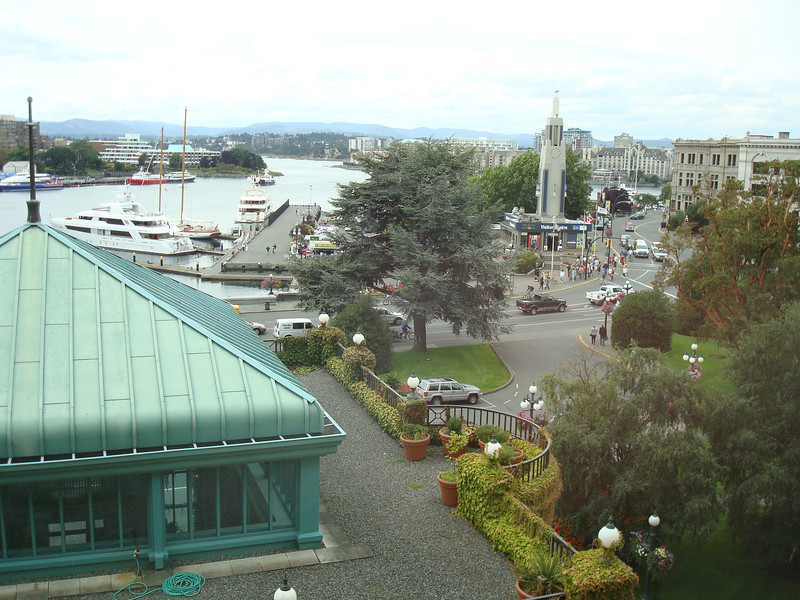 Victoria. View from the third floor of our hotel (Fairmont Empress)