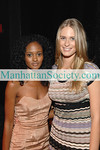 """NEW YORK-SEPTEMBER 18: Actress Nicole Fiscella from CW's """"Gossip Girl"""" and Sports Illustrated Swimsuit model Julie Henderson attend Generations Against Genocide (GvG), a division of the Simon Wiesenthal Center, Fall Cocktail Party at the Edison Ballroom on West 47th Street, New York City on Thursday, September 18, 2008 (Photo Credit: Gregory Partanio/ManhattanSociety.com)"""