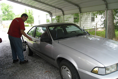This is a 1990 Chevy Cavalier that I bought brand new...with only 11 miles on it. Today (June 29, 2008) I took it to our local Kia Dealership to get Gerri a new car.  This car only had 116,000 miles on it.