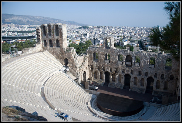 The theater at the Acropolis, Athens.