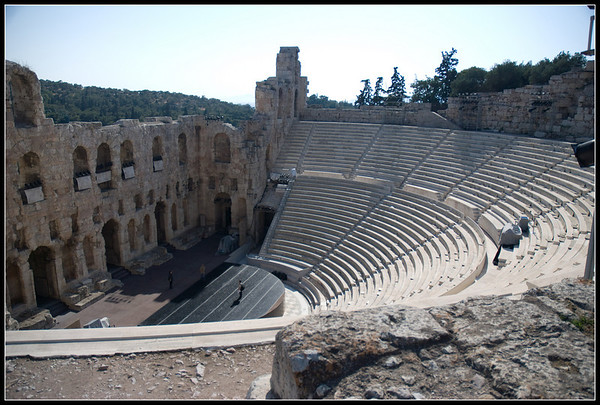 The theater near the Acroplis, in Athens.