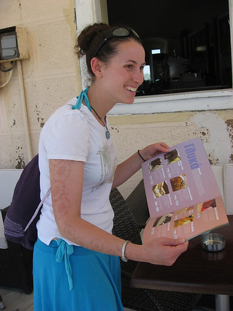 Jessica found the greatest ice-cream waffle place ever. Syros